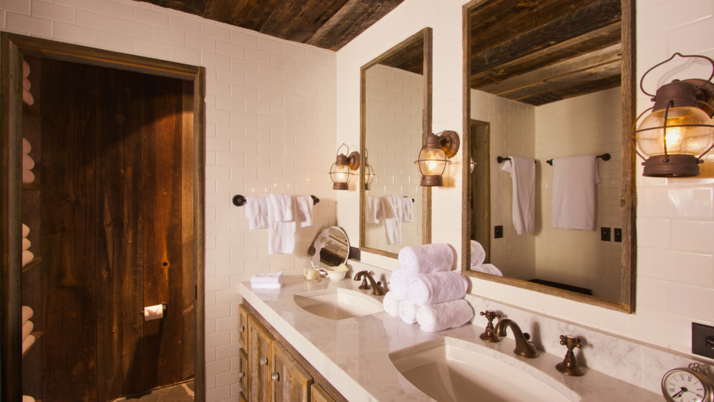 how to remodel a bathroom rustic