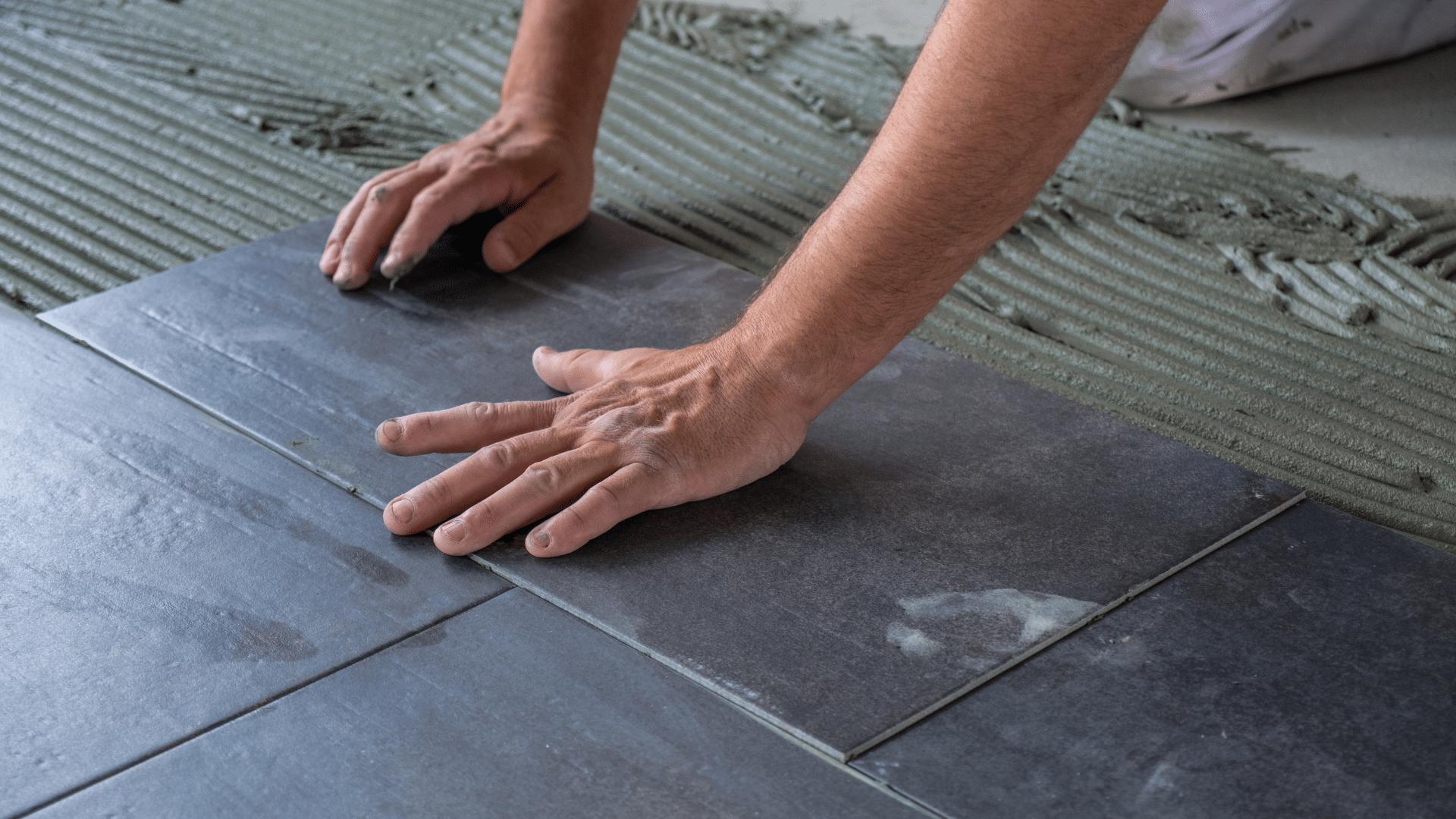 installing bathroom tiles