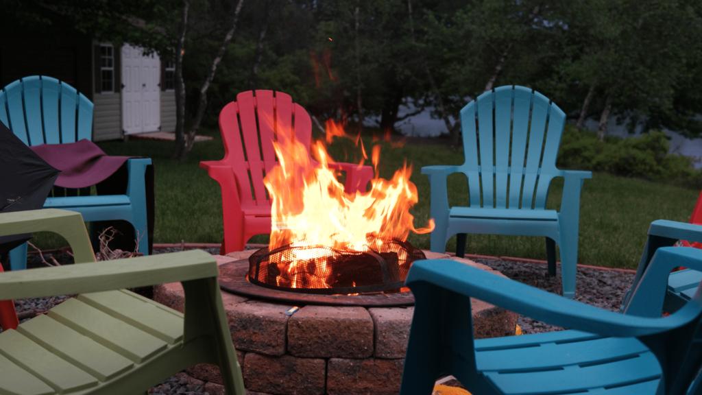 firepits landscape features