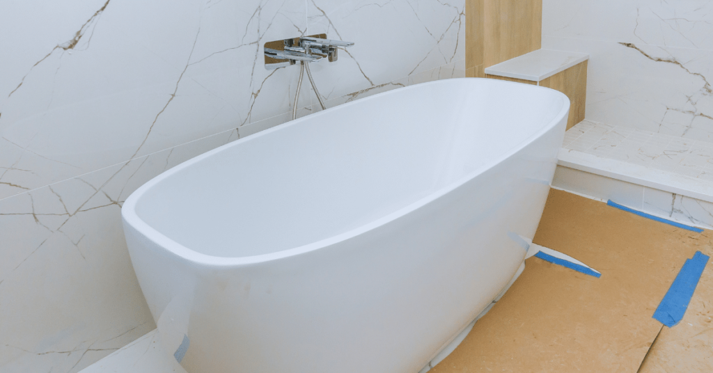 bathroom remodeling with new tub