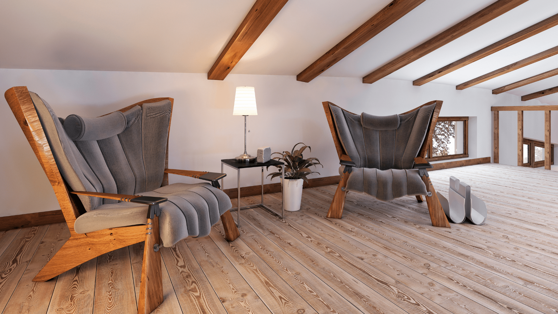 Attic Living Room Conversion